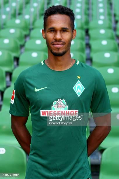 Theordo Gebre Selassie of Werder Bremen poses during the team presentation at Weser Stadium on July 19 2017 in Bremen Germany