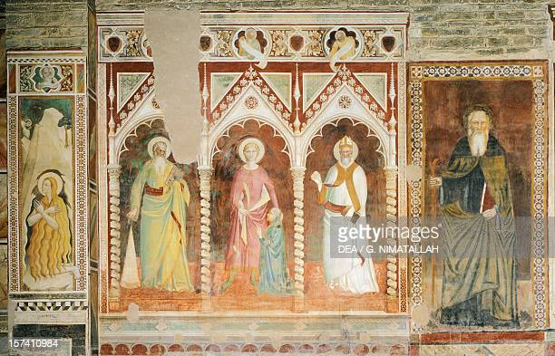 Theory of Saints, by Spinello Aretino . San Miniato al Monte , Florence. Italy, 14th-15th century.