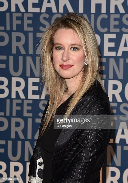 Theranos CEO Elizabeth Holmes arrives at the 3rd Annual Breakthrough Prize Award Ceremony at NASA Ames Research Center on November 8 2015 in Mountain...
