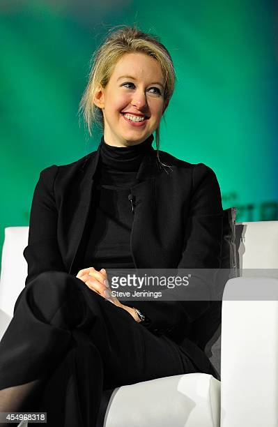 Theranos Chairman CEO and Founder Elizabeth Holmes speaks onstage at TechCrunch Disrupt at Pier 48 on September 8 2014 in San Francisco California