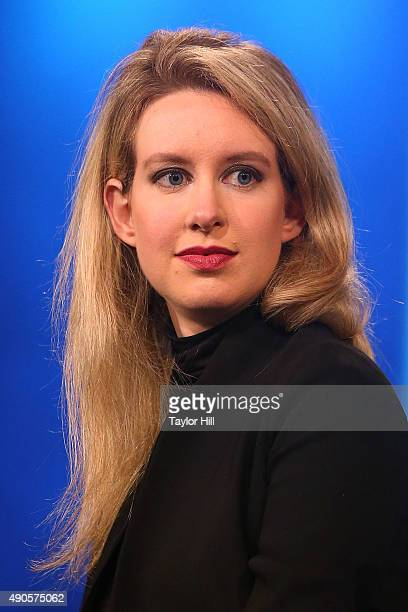 Theranos founder Elizabeth Holmes attends the 2015 Clinton Global Initiative Closing Plenary at Sheraton Times Square on September 29 2015 in New...
