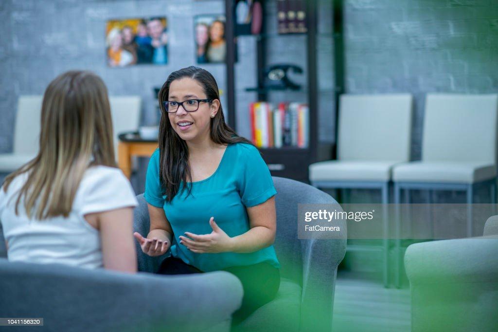 Therapist at work : Stock Photo