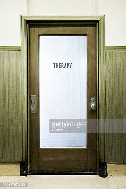 'Therapy' sign on door