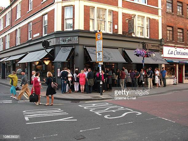 There always seems to be a queue outside of Jamie's Italian Bistro on George Street.