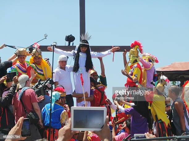 PAOMBONG BULACAN PHILIPPINES There are 11 Filipino devotees penitent including a woman that was nailed during the Good Friday commemoration at the...
