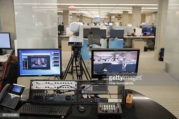 There are several places inside the Washington Post's news room where reporters editors and producers can shoot and edit video content inside its new...