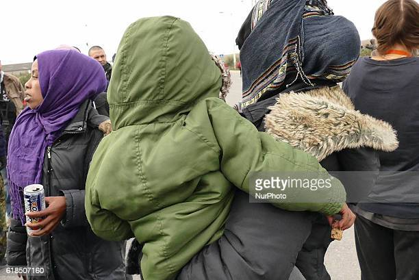 There are still women at the Jungle camp in Calais on 27 October 2016 who are determined to get to the UK The women claim they are being kept from...