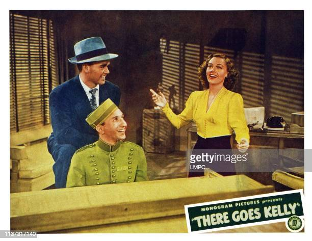 There Goes Kelly US lobbycard from left Jackie Moran Sidney Miller Wanda McKay 1945