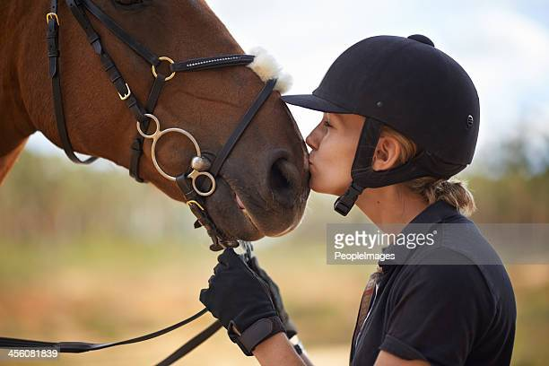 there is a bond between horse and rider - horse stock pictures, royalty-free photos & images