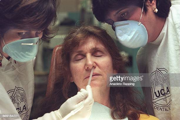There is a growing number of dentist who cater to patients with bad breath At UCLA School of Dentistry in Westwood Dr Diana Messadi left and Sushma...