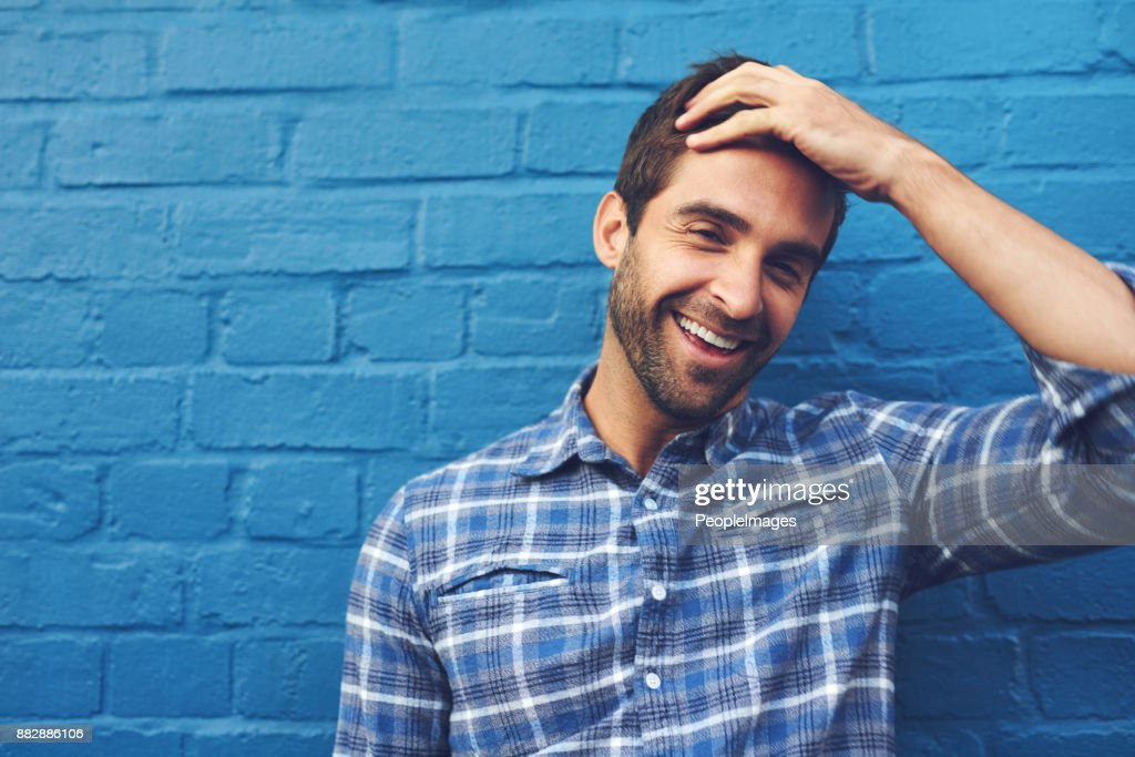 There is much to laugh about in life : Stock Photo