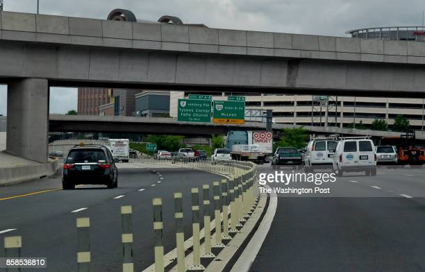 There is usually less traffic in the Express lanes of the beltway near Tysons Corner because many drivers do not want to pay the Express lane fees...