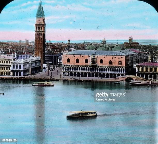 There lies before us Venice the wonder city of Italy the old queen of the seas When we see how the clear sky colour is reflected in the lagoon such...