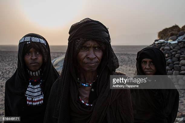 There they live the Afar people, a nomadic people and proud and great warrior traditions are recognizable for the long curly hair and still wear the...
