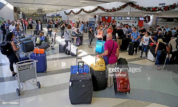 There was a heavy police presence at Fort Lauderdale International Airport after it reopened on Saturday Jan 7 a day after a shooting in the baggage...