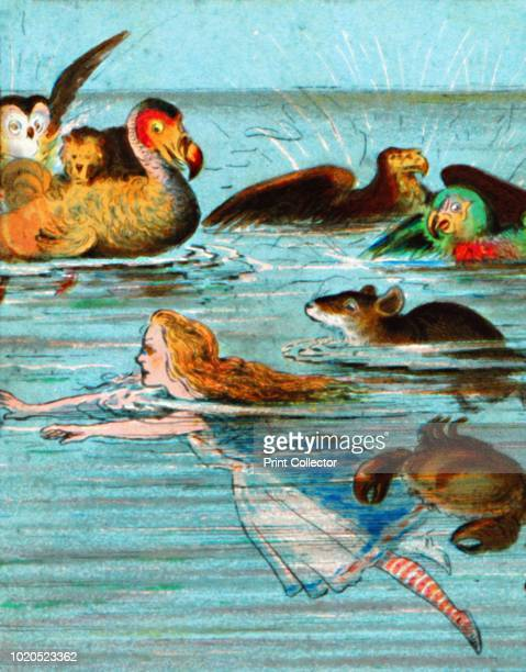 There was a mouse splashing about' circa 1900 After the illustrations by John Tenniel From Coloured Lantern Slides Primus Junior Lecturers' Series No...