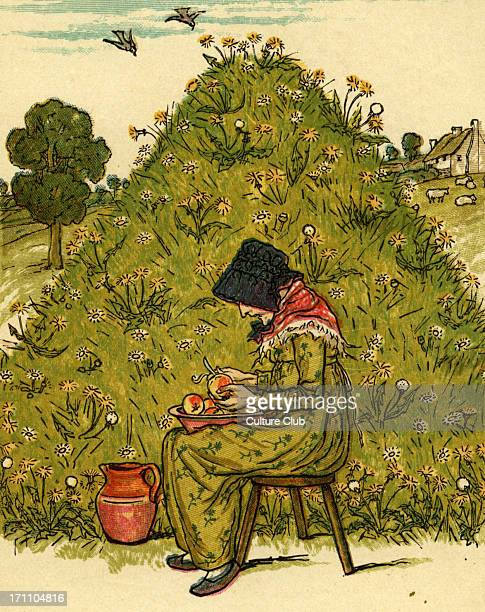 There was an old woman nursery rhyme illustrated by Kate Greenaway English children 's book illustrator and authoress 17 March
