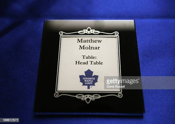 There were even Leafs' themed coasters marking table spots Matthew and Andrea Molnar's first date was at a Leafs game he proposed before Leafs game...