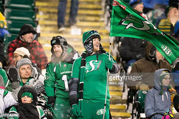 There were many Saskatchewan Roughrider fans in attendance for the CFL Western SemiFinal game between the Saskatchewan Roughriders and Edmonton...