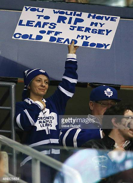 TORONTO ON NOVEMBER 20 There were no jerseys thrown on the ice as the Toronto Maple Leafs beat the Tampa Bay Lightning 52 in the Air Canada Centre in...