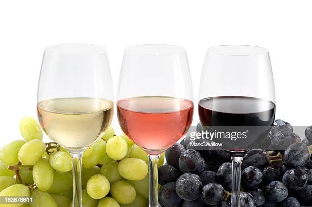 tres de vinos - chardonnay grape fotografías e imágenes de stock