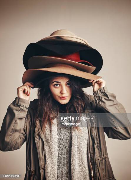there's a different hat for every occasion - fashion collection stock pictures, royalty-free photos & images