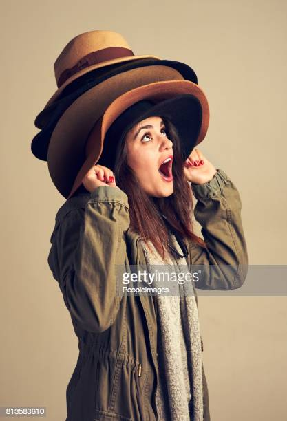 there's a different hat for every occasion - excess stock photos and pictures