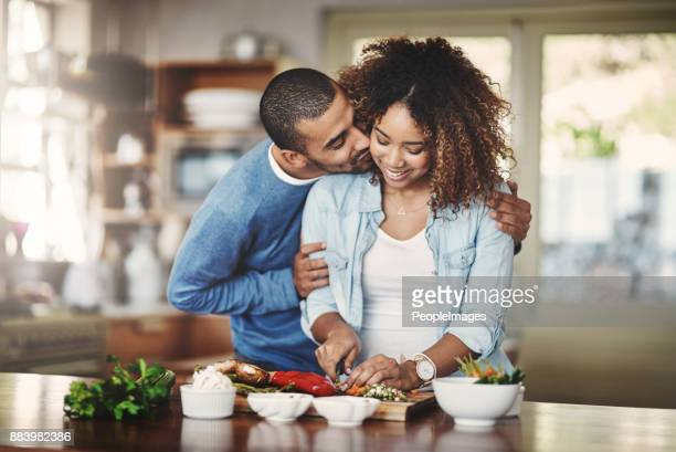 there's a lot of love in this kitchen - low carb diet stock photos and pictures