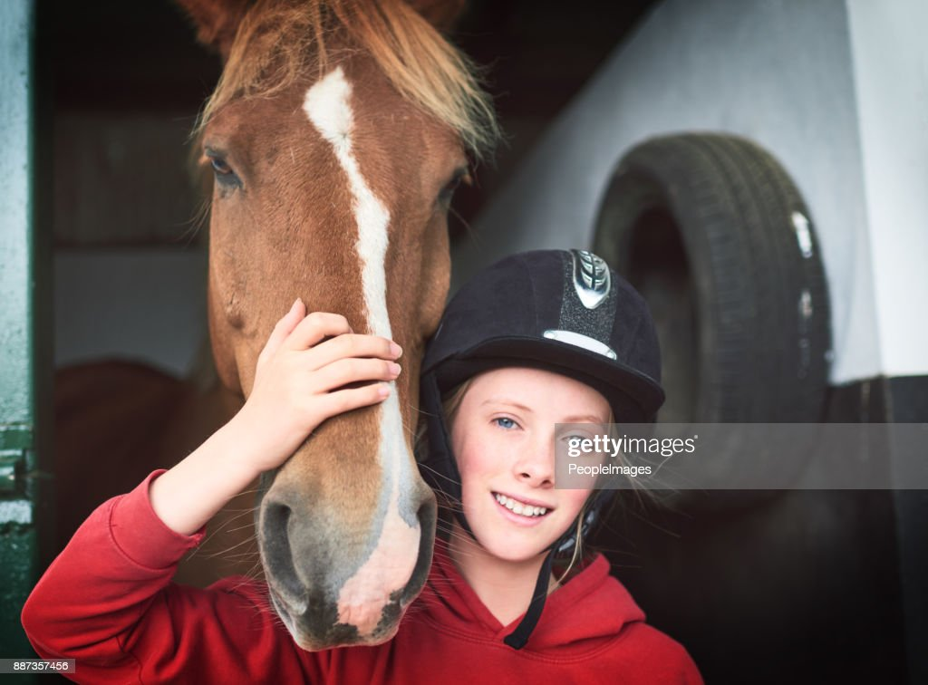 There's a lot to love about a horse : Stock Photo