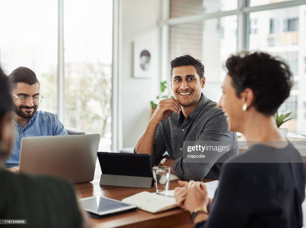 There's a lot to smile about when : Stock Photo