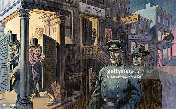 There's a new captain in the district by Udo Keppler 18721956 artist published by Keppler Schwarzmann Puck 1913 March 26th Illustration shows...