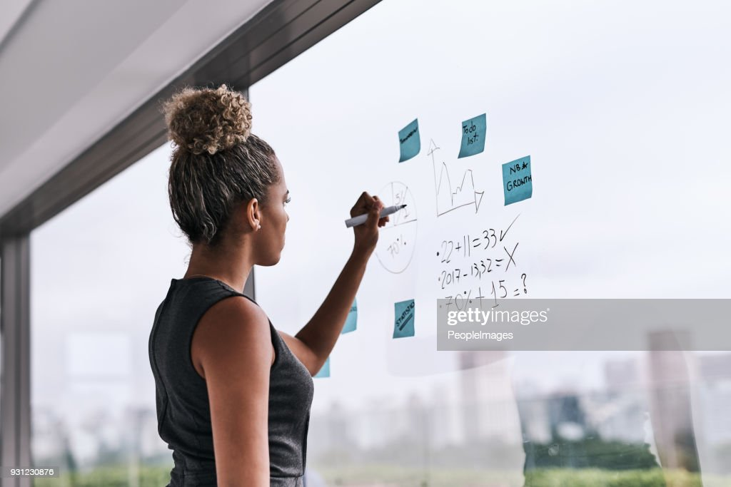 There's a new plan on the wall : Stock Photo