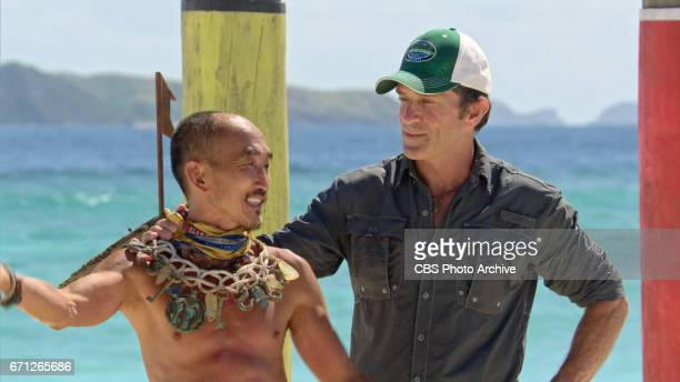 'There's A New Sheriff in Town' Jeff Probst awards Tai Trang with the Immunity Necklace on the eighth and ninth episode of SURVIVOR Game Changers...