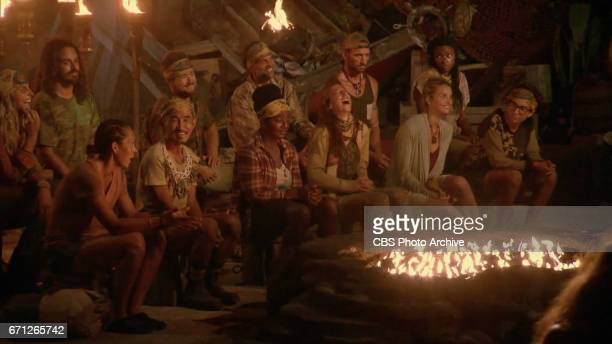 'There's A New Sheriff in Town' The Tribe at Tribal Council on the eighth and ninth episode of SURVIVOR Game Changers airing Wednesday April 19 on...