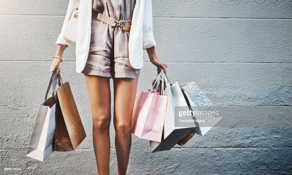 There's always more shopping to do : Stock Photo