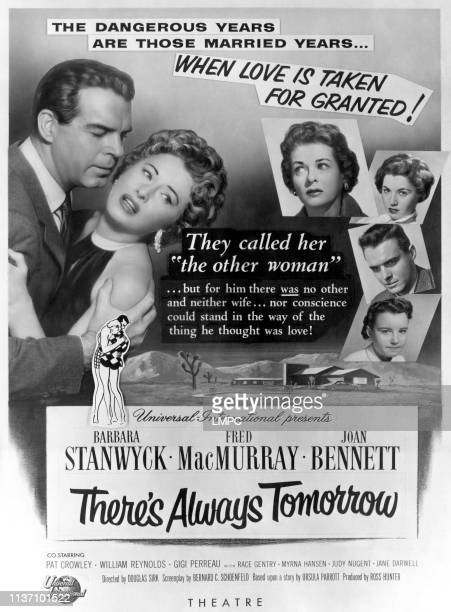 There's Always Tomorrow poster US poster Fred MacMurray Barbara Stanwyck Joan Bennett Patricia Crowley William Reynolds Gigi Perreau1956