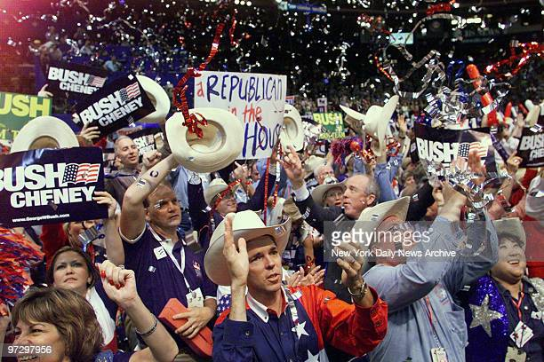 There's jubilation in the Texas delegation as George W Bush goes over the top in delegate votes to seal the presidential nomination at the Republican...