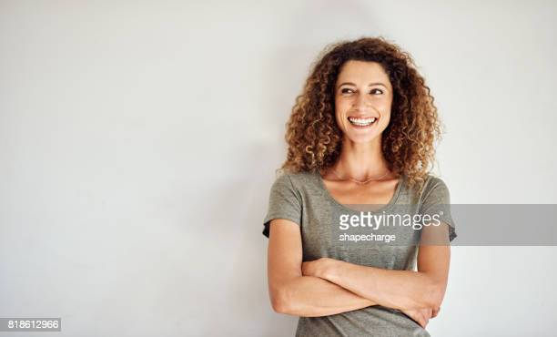 there's lots to smile about when you think about it - curly stock pictures, royalty-free photos & images