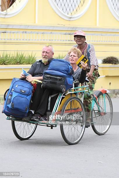 """""""There's No Crying in Baseball"""" --Mariie Monster Truckers Rob and Kelley travel to the next location on THE AMAZING RACE, Sunday, Oct 14 on the CBS..."""