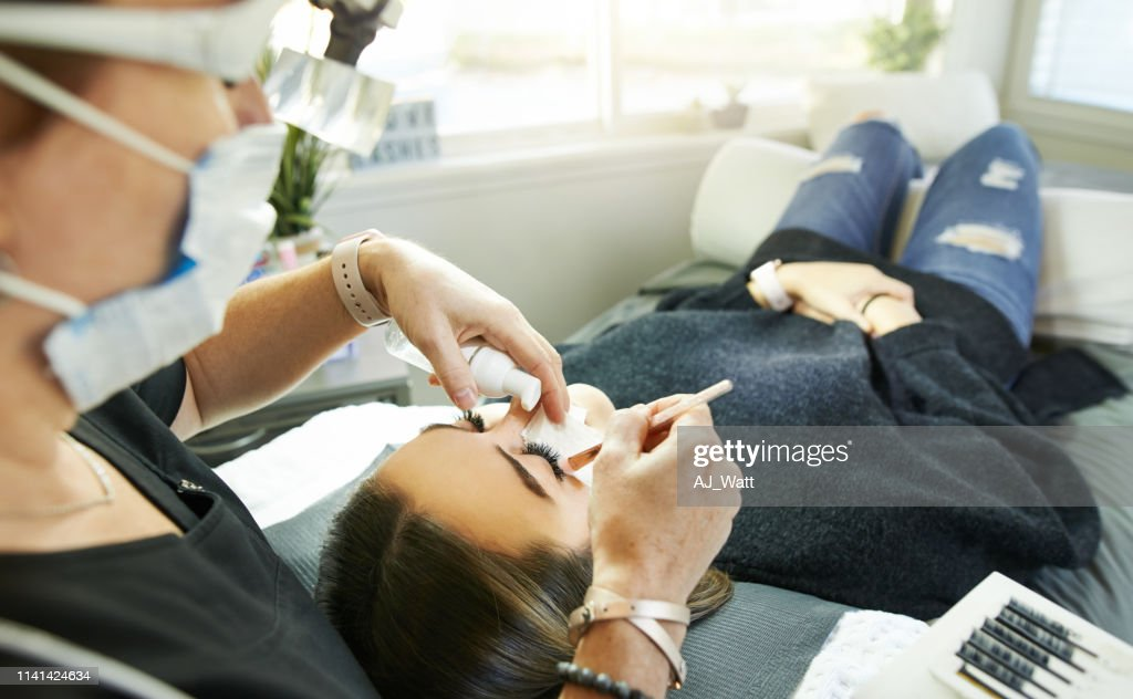 There's no therapy like a session with my lash artist : Stock Photo
