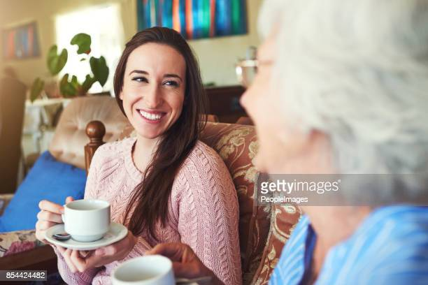 There's nothing like enjoying a cup of tea with Granny