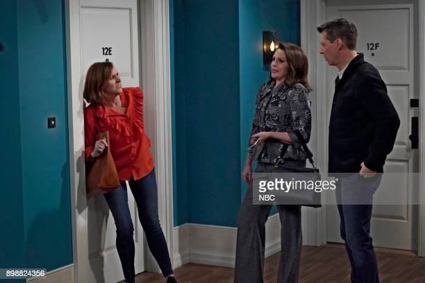 WILL GRACE 'There's Something About Larry' Episode 108 Pictured Molly Shannon as Val Megan Mulally as Karen Walker Sean Hayes as Jack McFarland