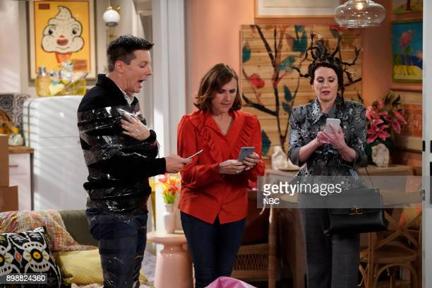 WILL GRACE 'There's Something About Larry' Episode 108 Pictured Sean Hayes as Jack McFarland Molly Shannon as Val Megan Mulally as Karen Walker