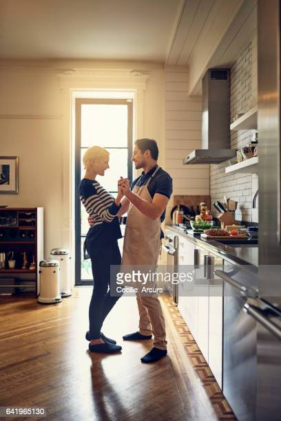 There's something romantic about cooking together
