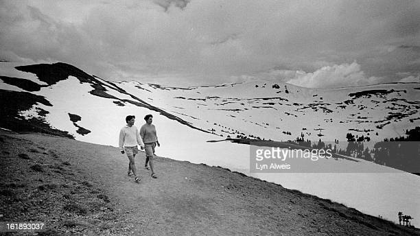 111986 641986 There's still plenty of snow at 11900 foot Loveland Pass David and Leslie Frye of Gettys burg PA who are on their honeymoon walk along...