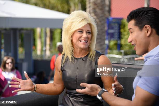 Theresa Caputo visits 'Extra' at Universal Studios Hollywood on March 7 2017 in Universal City California