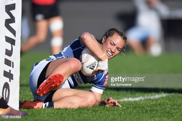 Theresa Fitzpatrick of Auckland looks on during the Farah Palmer Cup Semi Final match between Canterbury and Auckland at Rugby Park on October 24,...
