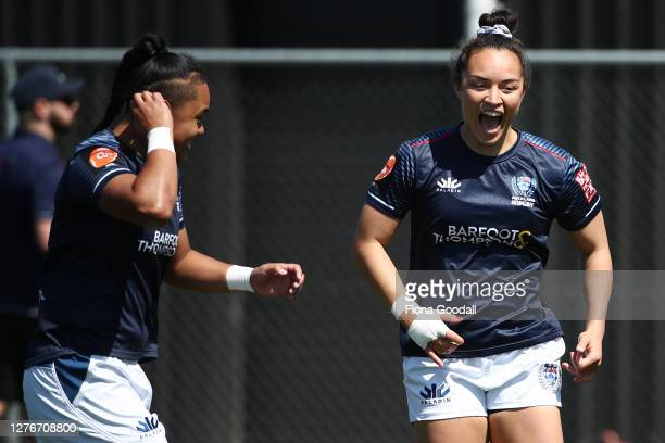 Theresa Fitzpatrick of Auckland warms up during the round 4 Farah Palmer Cup match between North Harbour and Auckland at Kumeu RFC on September 26,...