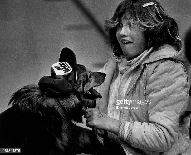 MAR 19 1983 Theresa Hymen and her dog Mandy didn8t win but still managed to have some fun at the green mtn rec center St Patricks's day parade