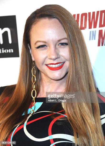 Theresa Ireland arrives for the Premiere Of ITN Distribution's Showdown In Manila held at Laemmle's Ahrya Fine Arts Theatre on January 22 2018 in...